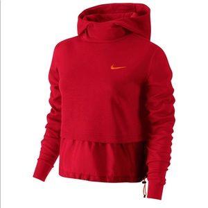 Nike Red Advance 15 Hoodie Sweatshirt Sz X-Small